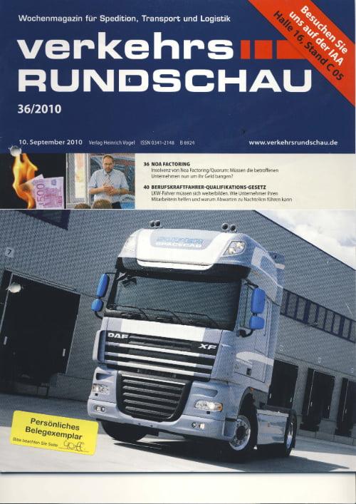 Fachzeitschrift Verkehrsrundschau - Jetzt lernen, später lachen!