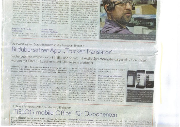 "TELEMATIK MARKT.DE - Bildübersetzer-App ""Trucker Translator"""
